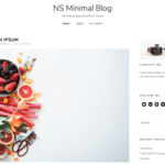 NS Minimal Wordpress Theme