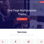 One Page Multipurpose WordPress Theme