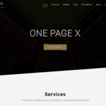 One Page X WordPress Theme