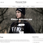 Personal Club Wordpress Theme