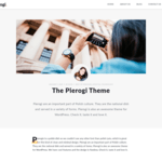 Pierogi WordPress Theme