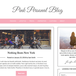 Pink Personal Blogily Wordpress Theme