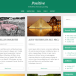 Positive blog WordPress Theme