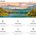 Product Landing page Wordpress Theme