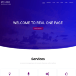 Real One Page Wordpress Theme