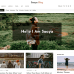 Saaya Blog Wordpress Theme