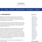 Scaffold Wordpress Theme