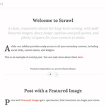 Scrawl WordPress Theme