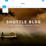 Shuttle Blog Wordpress Theme