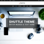 Shuttle Dark Wordpress Theme