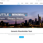 Shuttle Minimal Wordpress Theme