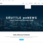 Shuttle weNews Wordpress Theme