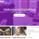SocialMag Wordpress Theme