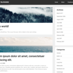 Steady Blogging Wordpress Theme