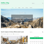 Sublime Blog WordPress Theme