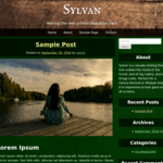Sylvan Wordpress Theme