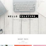 Teletype WordPress Theme
