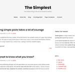 TheSimplest Wordpress Theme