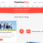 TimelineBlog WordPress Theme