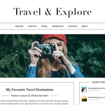 Travel Minimalist Blogger Wordpress Theme