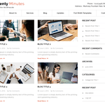 Twenty Minutes WordPress Theme