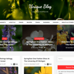 Unique Blog Wordpress Theme