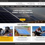 Urja Solar Energy Wordpress Theme