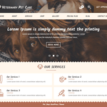 Veterinary Pet Care Wordpress Theme