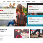 Vlogger Video Blog WordPress Theme