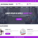 VW Personal Trainer Wordpress Theme