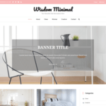 Wisdom Minimal Wordpress Theme