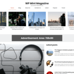 WP Mint Magazine Wordpress Theme