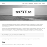 Zeros Wordpress Theme