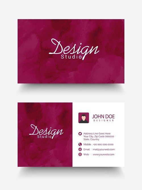 Name Card Design Embossing Ink