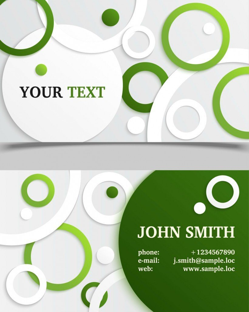 Name Card Design Layout