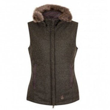 Annabel Brocks Dark Green Wool Gilet