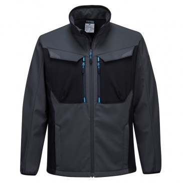 Portwest WX3 Softshell Jacket Grey/Blue
