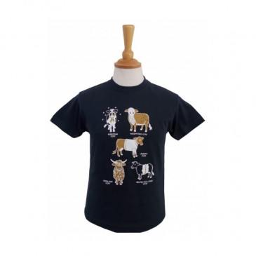 All Kinds Of Cows Child T-shirt Navy