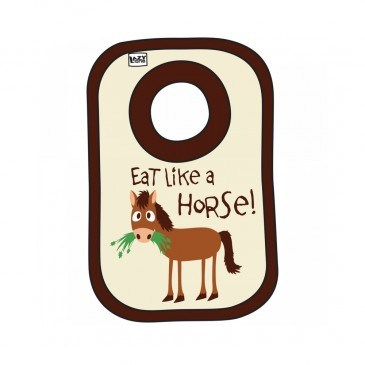 LazyOne Eat Like Horse Bib